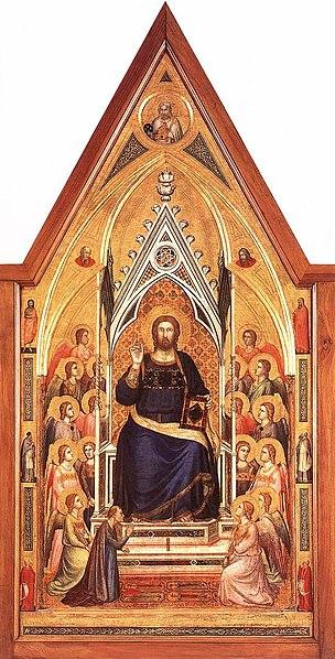 File:Giotto di Bondone - The Stefaneschi Triptych - Christ Enthroned - WGA09351.jpg