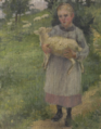 Girl Holding a Sheep by Kuroda Seiki (Kuroda Kinenkan).tiff