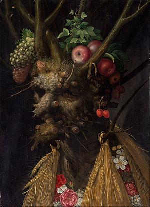 Giuseppe Arcimboldo - Four Seasons in One Head
