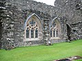 Glenluce Abbey stained glas windows.JPG