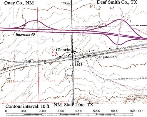 Map Of Interstate 40 In Texas.Glenrio Davishunter Com