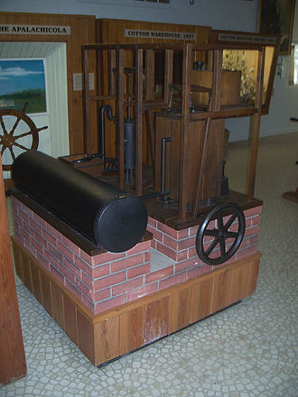 Air conditioning - Three-quarters scale model of Gorrie's ice machine at John Gorrie State Museum, Florida
