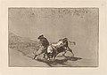 Goya - El diestrisimo estudiante de Falces, embozadoburla al toro con sus quiebros.jpg