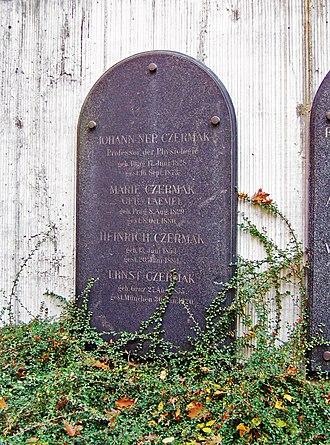 Johann Nepomuk Czermak - Grave plate of Czermak in Leipzig.