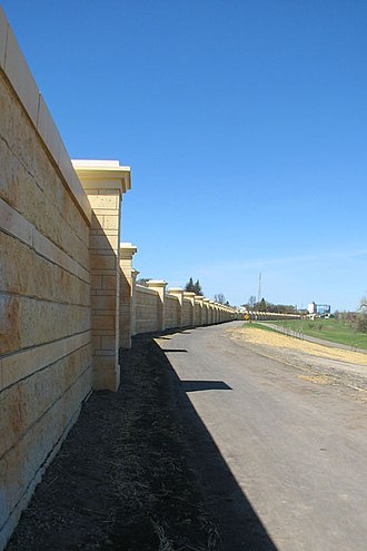 Greater Grand Forks Greenway - Floodwall in the Greenway directly north of downtown Grand Forks