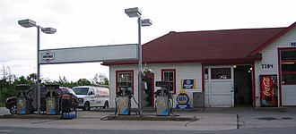 Irving Oil - Old style Irving Oil station, in Musquodoboit Harbour, Nova Scotia