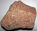 Granite (pgpf dike facies, Pikes Peak Batholith, Mesoproterozoic, 1.08 GA; Pikes Peak, Colorado, USA) 1 (30903226833).jpg