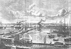Granton, Edinburgh - Granton Harbour in its heyday, around the 1860s