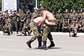 Grappling demonstration - Russian Airborne Day Camp Ugljevic, Bosnia, 2001.jpg