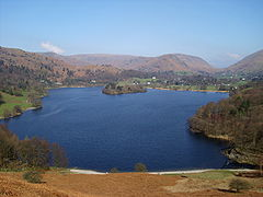 K Village Lake District ... Loughrigg Terrace, looking across the lake towards Grasmere village
