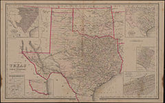 grays new map of texas and indian territory c 1876