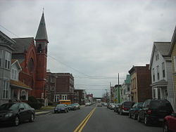 George Street looking south towards the former St. Joseph's Church