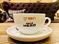 Green Caffé Nero at PKiN, Warsaw, Poland, 2019, White cup.jpg