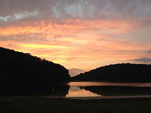 Greenbrier State Park - Sunset over Greenbrier Lake