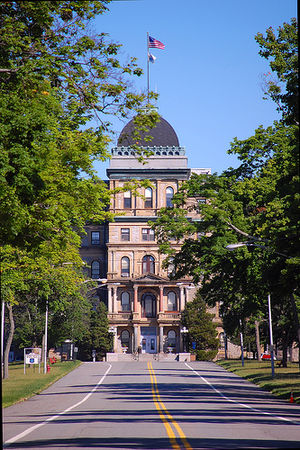Greystone Park Psychiatric Hospital - Greystone's main entrance as seen from Central Ave.