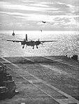 Grumman S-2E Tracker of VS-35 lands on USS Hornet (CVS-12), circa in 1968.jpg