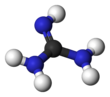 Ball and stick model of guanidine