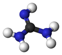 Ball-and-stick model of guanidine