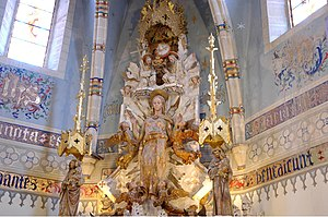 Josep Maria Jujol - One of his earlier commissions, Trinity altar in the Basilica de Santa Maria del Mar.