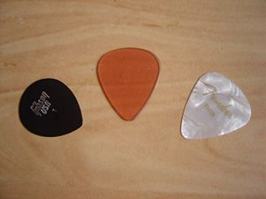 Plectrum - Three plectra for use with guitar