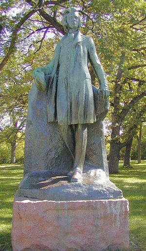 Gunnar Wennerberg - Statue by Carl Johan Eldh in Minnehaha Park