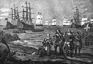 1630 in Sweden - Gustavus Adolphus' landing in Pomerania