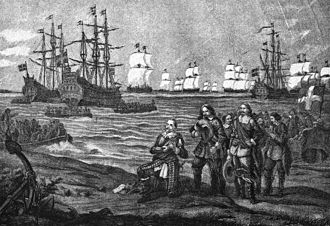 Gustavus Adolphus of Sweden - Gustavus Adolphus' landing in Pomerania, near Wolgast, 1630