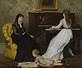 Gustave Léonard de Jonghe - Practising.jpg