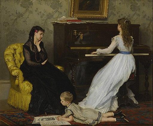 Gustave Léonard de Jonghe - Practising