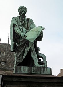 Gutenberg-Statue in Straßburg (Quelle: Wikimedia)