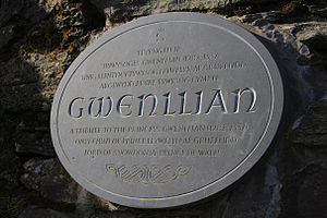 Gwenllian of Wales - The Gwenllian Tribute at the summit of Snowdon