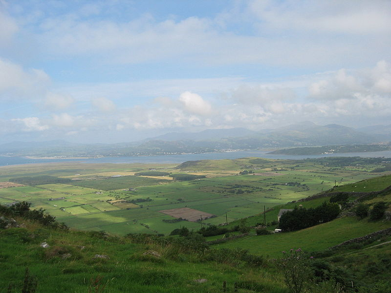 View of Tremadog bay in Gwynedd in Wales, from the vicinity of Harlech.