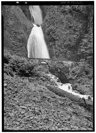 Wahkeena Falls - Image: HAER HCRH OR 36 36