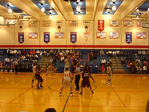 Sharp Gymnasium - Image: HBU Basketball CIMG8372