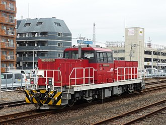JR Freight Class HD300 - HD300-17 at Hachioji Station in October 2017