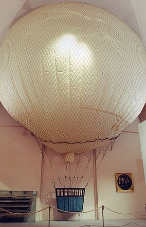 History of aviation - French reconnaissance balloon L'Intrépide of 1796, the oldest existing flying device, in the Heeresgeschichtliches Museum, Vienna.
