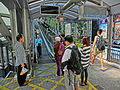 HK Central Escalators interior visitors n Security staff at 10am changing everyday Oct-013 (2).JPG