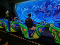 HK Disneyland 巴斯光年 星際歷險 Buzz Lightyear Astro Blasters visitors train Oct-2013 003.JPG