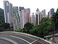 HK Mid-levels 摩星嶺 Mount Davis 薄扶林道 Pok Fu Lam Road building facades Pokfield Road September 2019 SSG 01.jpg
