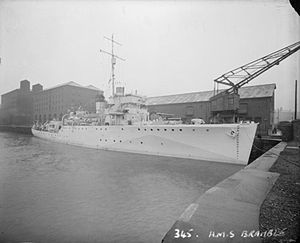 HMS Bramble (J11) - HMS Bramble, April 1942