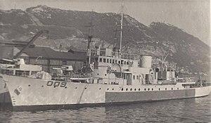 HMS Evadne - Image: HMS Evadne at Gibraltar