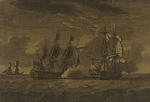 Action of 30 September 1780 - The Pearl taking L'Esperance - 30 Sep 1780