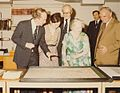 HM Queen Mother at the formal opening of the new library in the Lionel Robbins Building, 10th July 1979 (4029359432).jpg