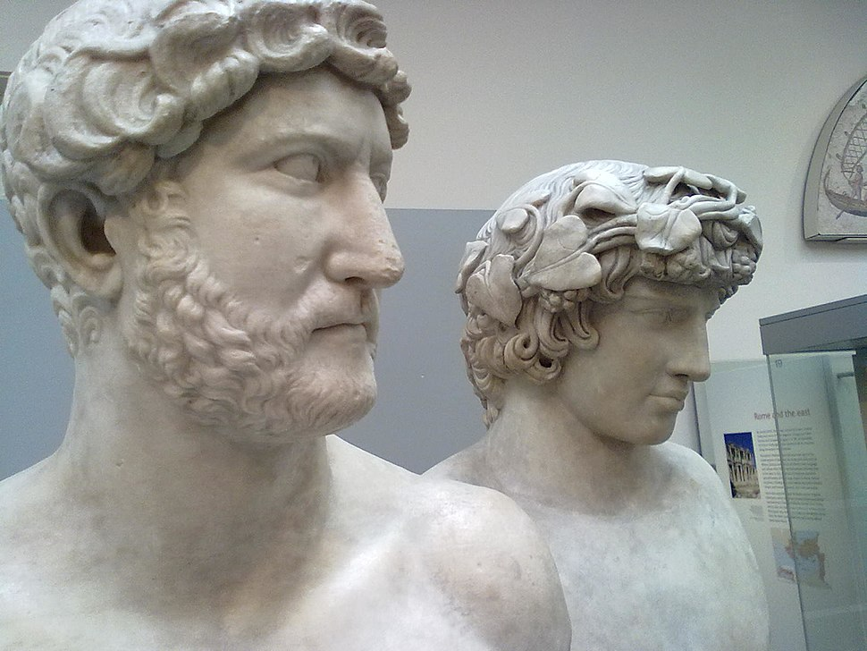 Hadrian and Antinous bust British Museum