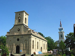 Hajdučica - The Evangelical (Slovak) churches, the new under construction and the old one