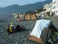 Hakdong beach camping, Korea - panoramio.jpg