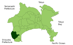 Location of Hakone in Kanagawa Prefecture
