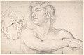 Half-Figure of a Nude Man Facing Left, Head of a Satyr MET DP802645.jpg