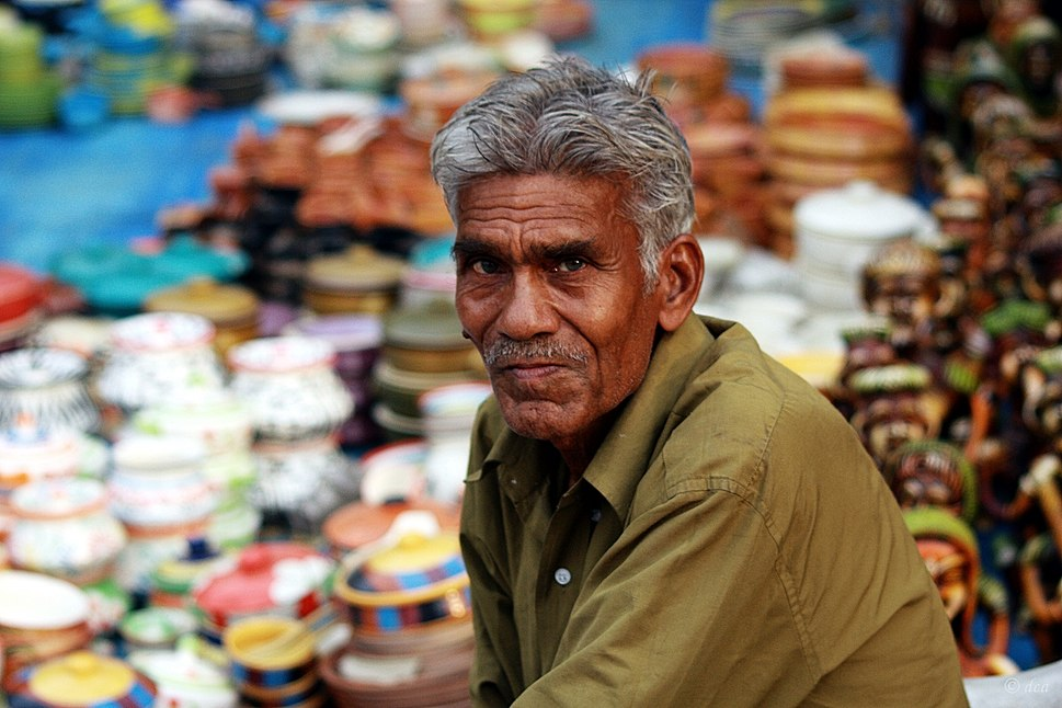 Handicrafts seller