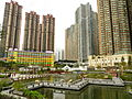 Hang Hau Man Kuk Lane Park, pond (Hong Kong).jpg